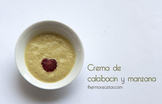 Crema de calabacín y manzana THERMOMIX