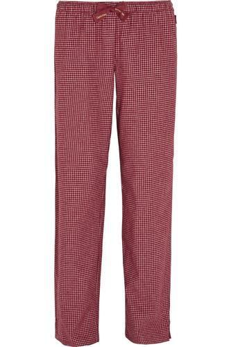Plaid cotton-flannel pajama pants #plaidpants #flannel #offduty #covetme #calvinkleinunderwear