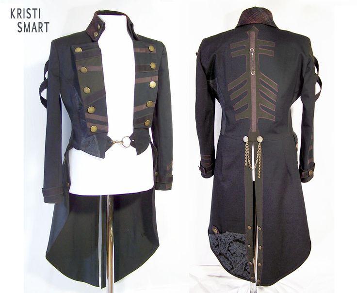 Anime Steampunk tail coat mens long coat medium by ManicManx on Etsy https://www.etsy.com/listing/106479779/anime-steampunk-tail-coat-mens-long-coat