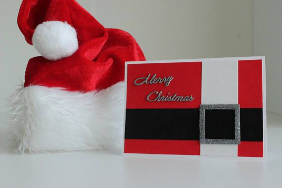 Handmade Christmas card Santa Claus Cards Seasonal Cards