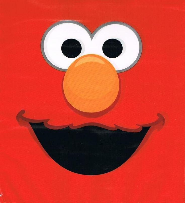 Elmo Sesame Street Party Supplies - Elmo Face Napkins/Serviettes 12 pack