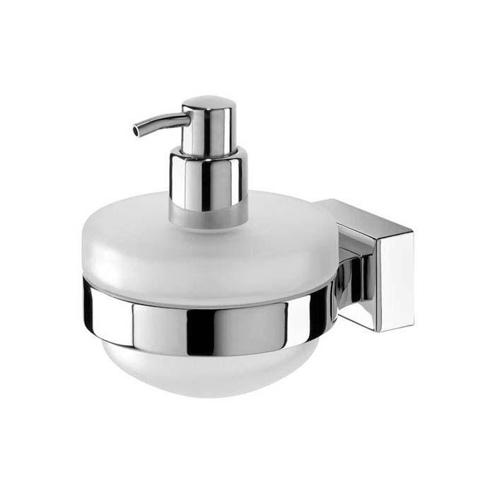 Tiger FIGUERAS zeepdispenser voor toilet, keuken of badkamer is uitgevoerd in chroom. Bevestiging met schroeven of TIGERfix 2 (apart meebestellen)
