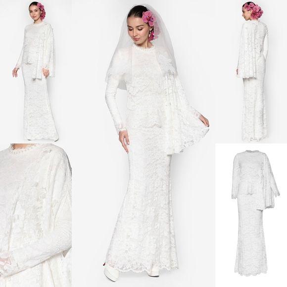 Baju Pengantin Terkini 2016 2017 Rizalman Bridalwear Tuberose Lace Kurung