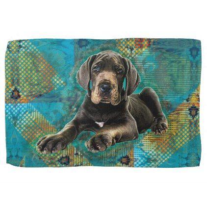 Great Dane Puppy Kitchen Towel Zazzle Com Great Dane Puppy