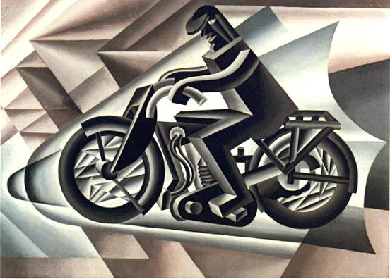 Fortunato Depero: il motociclista