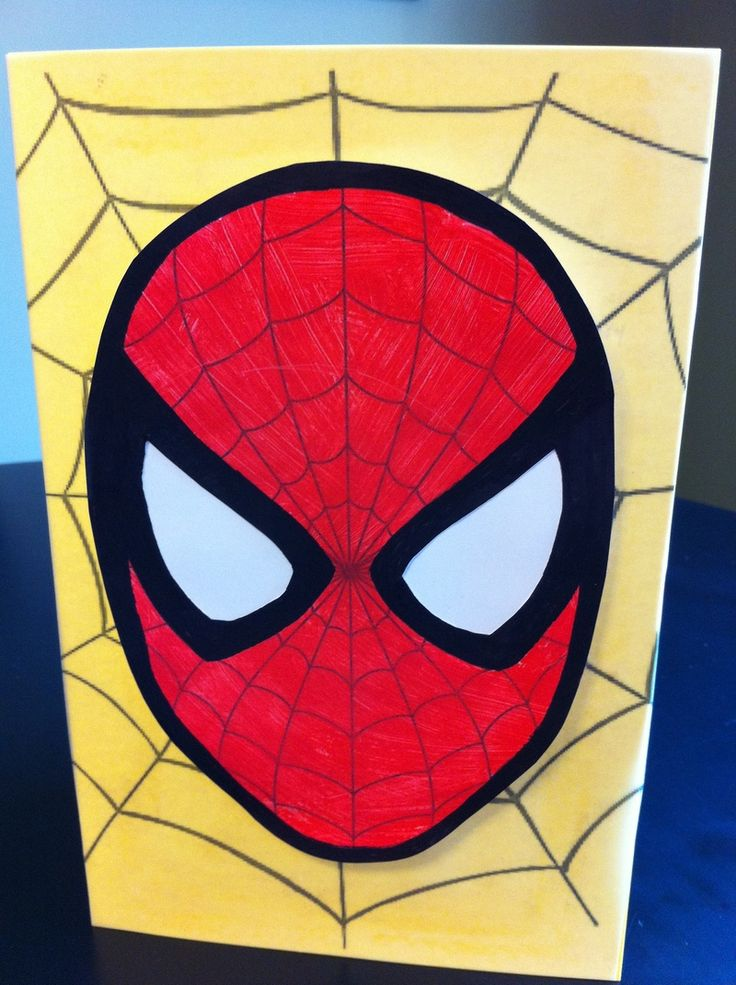 This Spiderman card is sure to be a hit with any superhero fan! Create this easy card to give for a birthday or send out as an invitation for your next superhero birthday party!