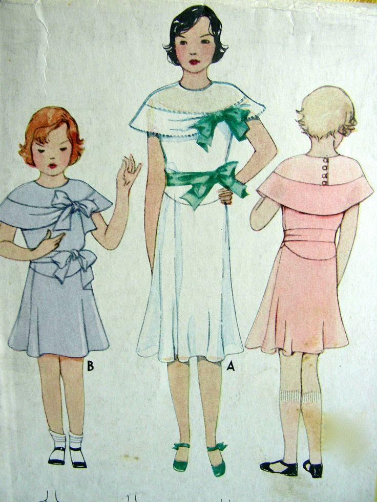 McCall Pattern di UNCUT 1930 7301 - taglia 10 - abito belle ragazze in quattro stili * Downton Abby di anne8865 su Etsy https://www.etsy.com/it/listing/194724879/mccall-pattern-di-uncut-1930-7301-taglia