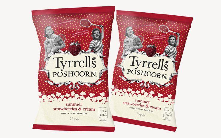 Tyrrells Poshcorn adds seasonal strawberries and cream flavour