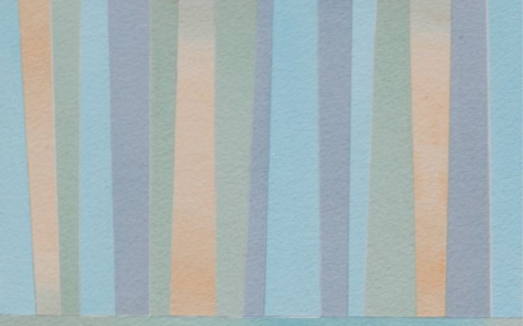 Forest, 2014 (Collaged watercolour paper on wood panel) 5 x 7 inches, by Margo Hebert