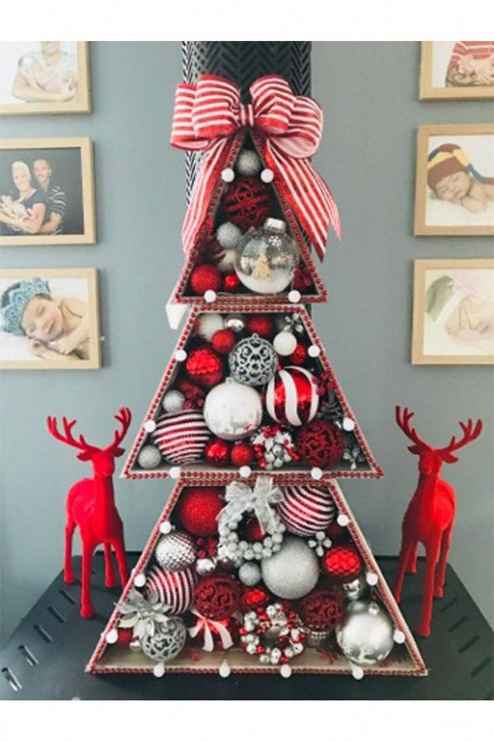 Kmart stacking Christmas tree hack #xmastreedecorations - $12 Kmart Christmas Tree Hack Christmas Info And Tips Pinterest