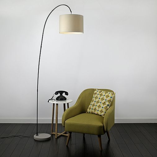 Simple Tesco direct Du uBose Curved Floor Lamp in Satin Black