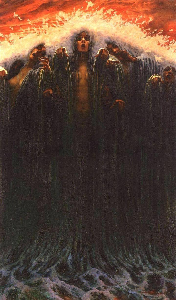 The Wave. Carlos Schwabe. 1907.
