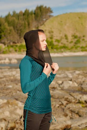 north star hooded merino top  a super-sheer hood or a drapey scarf detail - wear it your way! This tunic-style suits slim lines underneath, try our utility pant!  http://www.chalkydigits.co.nz