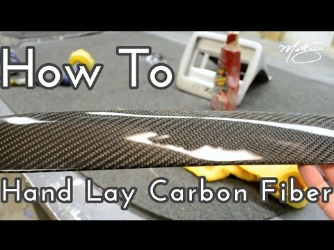 How To Hand Lay Carbon Fiber - YouTube