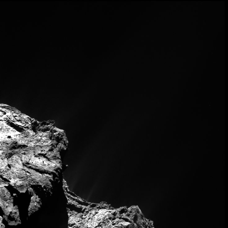 "Aug. 11, 2015 Rosetta Comet Outburst Captured. ""...When the outburst occurred, the spectrometer recorded dramatic changes in the composition of outpouring gases from the comet when compared to measurements made two days earlier. As a result of the outburst, the amount of carbon dioxide increased by a factor of two, methane by four, and hydrogen sulfide by seven, while the amount of water stayed almost constant..."""