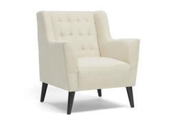 Baxton Studio Berwick Beige Linen Arm Chair Chicago furniture, Chicago furniture stores, furniture in Chicago, Berwick Beige Linen Arm Chair,  Living Room Furniture, Chicago
