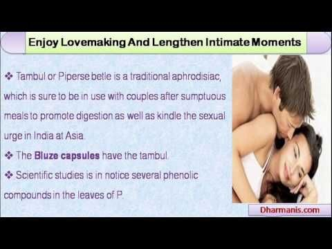 This video describes about how to make sex last longer to enjoy lovemaking and lengthen intimate moments. You can find more detail about Bluze Capsules at http://www.dharmanis.com