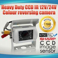 Heavy Duty CCD IR 12V/24V Colour reversing camera WHITE