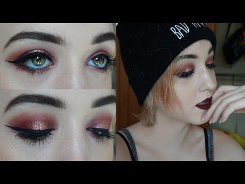Burgundy Makeup Tutorial | Brenna Neal - YouTube