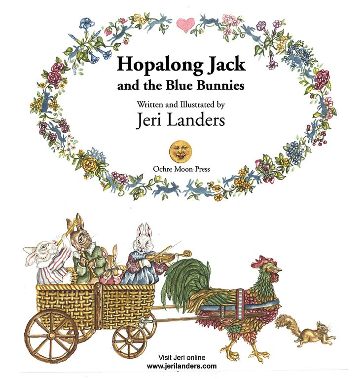 Title page of Hopalong Jack and the Blue Bunnies