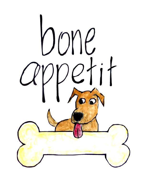 Bon Appetit Sign Dog Art Bone Appetite Sign Pet Wall Decor