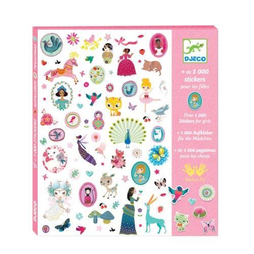 1000 stickers pour les filles Djeco