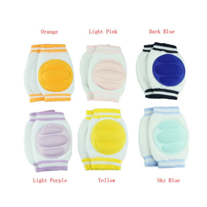 Нежный 6 цветов мода безопасности сканирование локоть подушки младенцы малышей наколенники протектор нога ребенка коленной чашечки для малыша Hot купить на AliExpress
