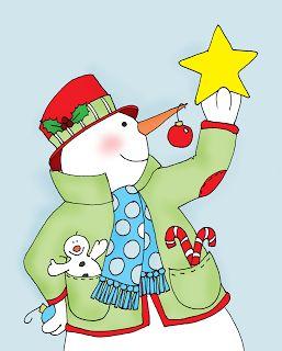 Free Dearie Dolls Digi Stamps: Christmas Snowman