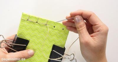 Cómo coser encuadernación japonesa