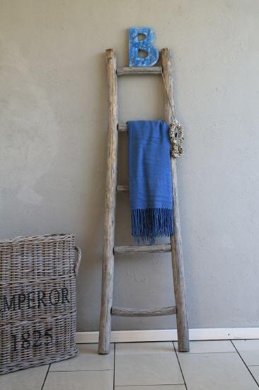 Houten ladder - voor dekentjes en tijdschriften