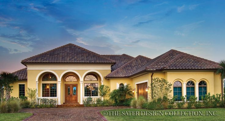 17 best ideas about mediterranean homes plans on pinterest for Dan sater homes