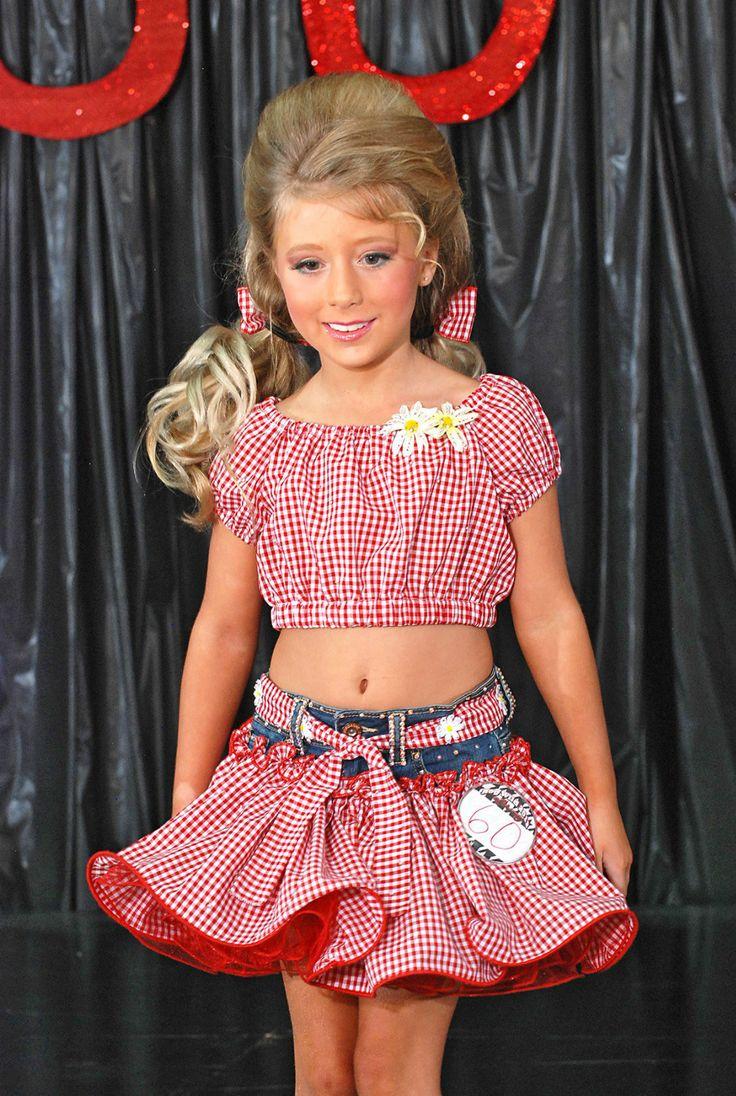 Daisy Duke Red White Glitz OOC Pageant Wear | eBay