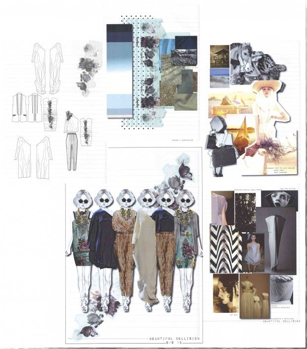 Fashion Sketchbook - fashion design illustrations, fashion mood board, design & development; the creative process