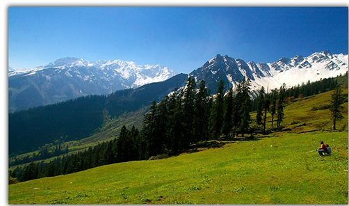 This spectacular view of #hills is from - Kheer Ganga, in Himachal Pradesh. Kheer Ganga is popular for its hot springs.