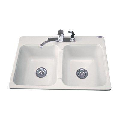 Acri-tec Industries 19041 Acrylic Dynasty Double Basin Sink