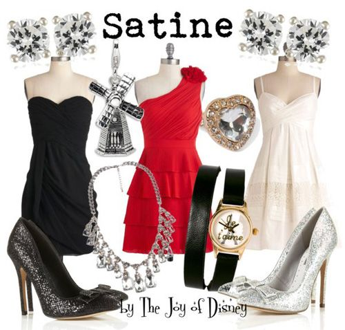 Outfits inspired by Satine from Moulin Rouge