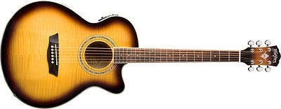 Washburn EA15ATB Electric Acoustic Guitar All Tobacco Burst Flame Maple FESTIVAL