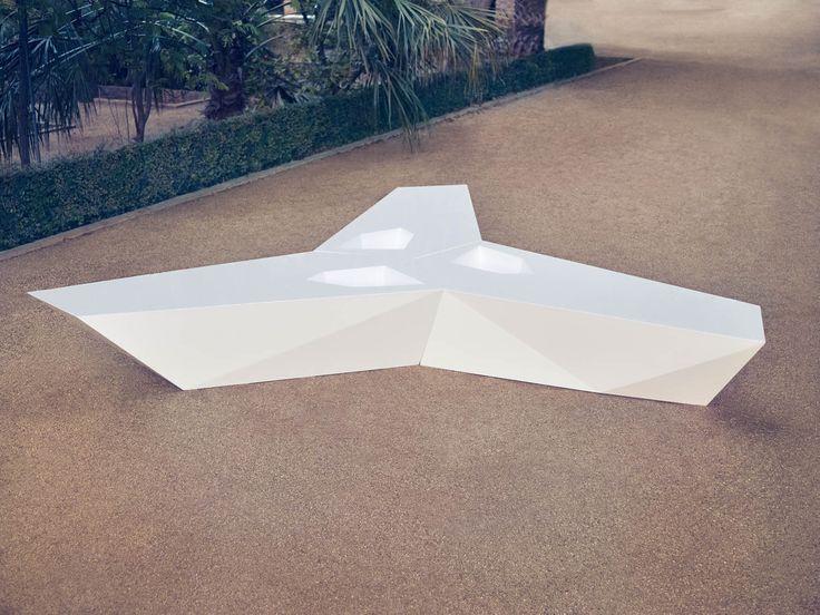 Faz collection, outdoor modular bench.