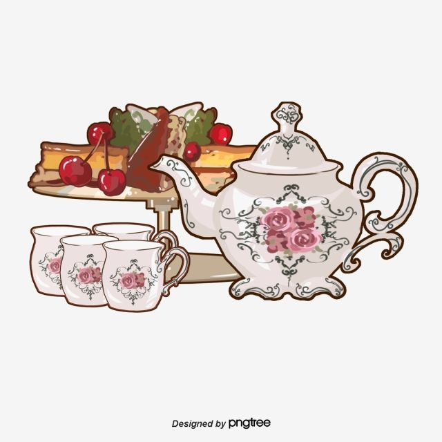 English Afternoon Tea Set Snacks Afternoon Tea Cherry Rose Png Transparent Clipart Image And Psd File For Free Download Afternoon Tea Set English Afternoon Tea Afternoon Tea