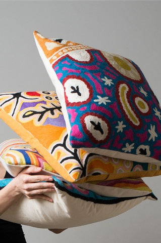The embroidery on these cushions is amazing