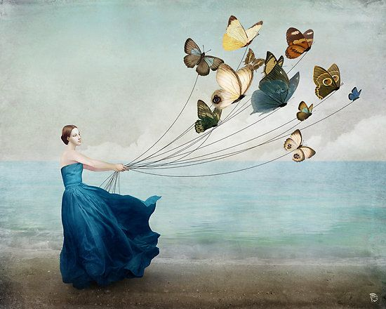 Mother nature costume - have butterfly on wire floating around head // Wonderland by ChristianSchloe