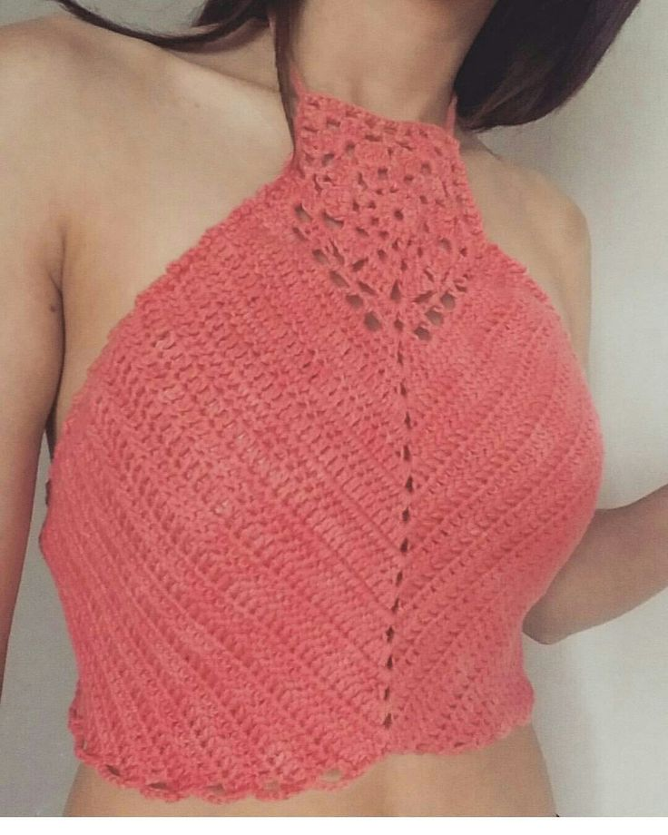 Halter Top a crochet Sigueme en Instagram y Facebook como MayerTejidos