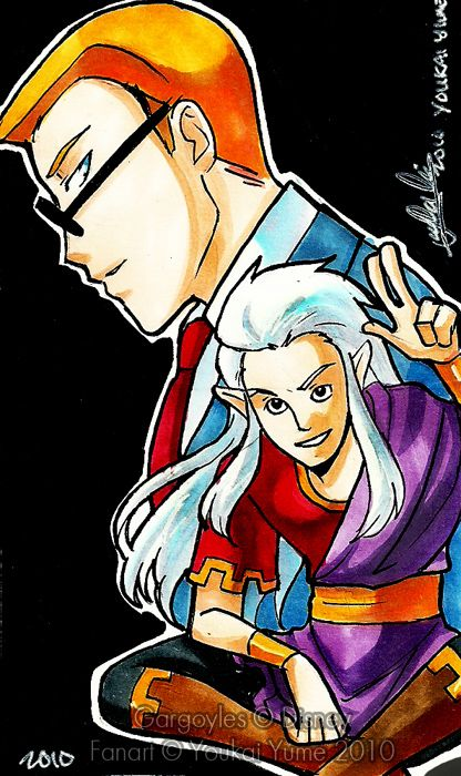 Gargoyles: Puck and Owen by YoukaiYume on deviantART