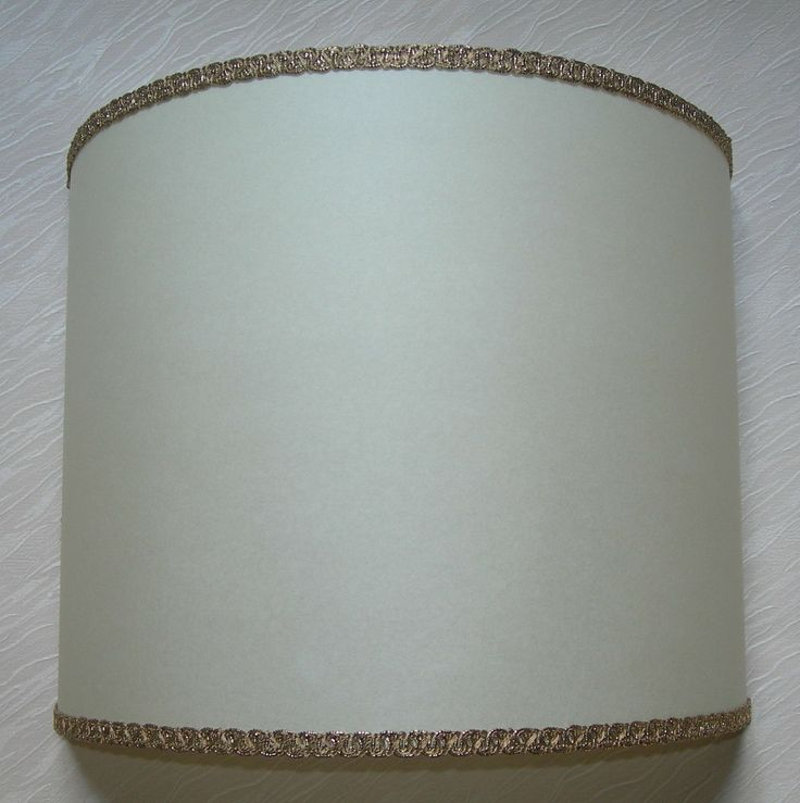 Wall Light Half Lampshade in Ivory Parchment Wall Lamp
