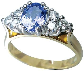 Ceylon sapphire and diamond ring by Petersens Jewellers Christchurch