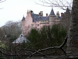 Balnagown Castle - Seat of The Clan Ross. This is also a luxury cottage estate which can be stayed at.  Otherwise it is private.