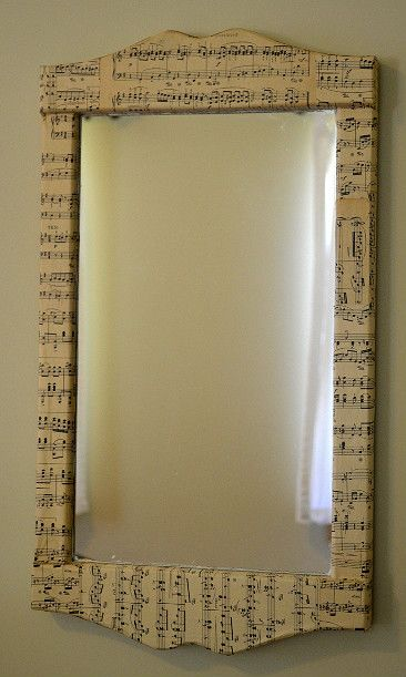 Marvelously Messy : Sheet Music Mirror Flowers Craft