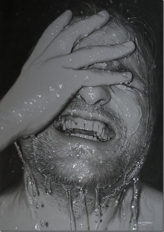 Dirk Dzimirsky's hyperrealistic drawings