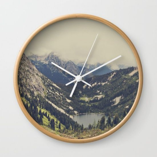 Mountain Flowers Wall Clock by Kurt Rahn. Worldwide shipping available at Society6.com. Just one of millions of high quality products available.