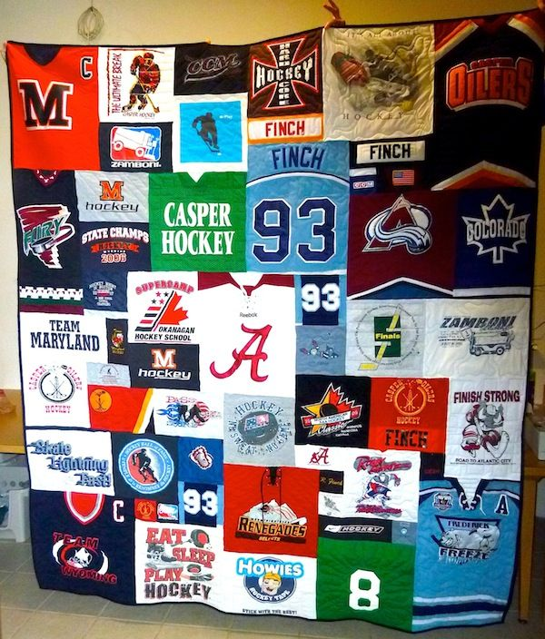 The best hockey jersey quilts